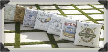 Tommy Bahama Pillows add a coastal flair anywhere